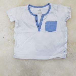H&M baby boy  short leave t shirt 2 to 4 months
